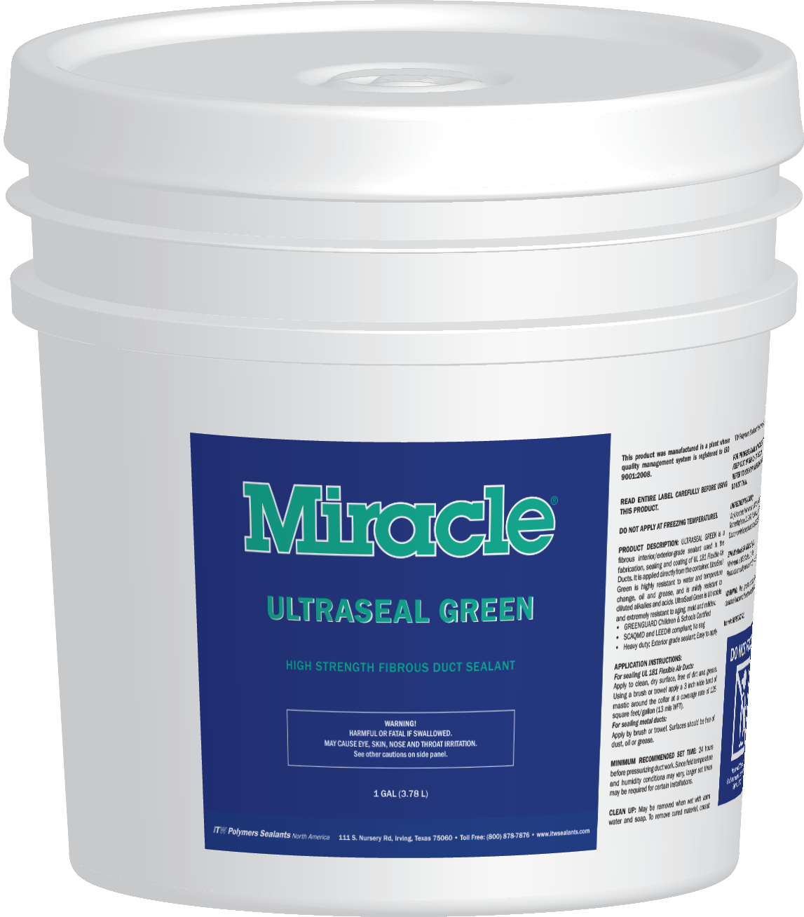 Miracle UltraSeal Green 4g Pail 2016-04-11